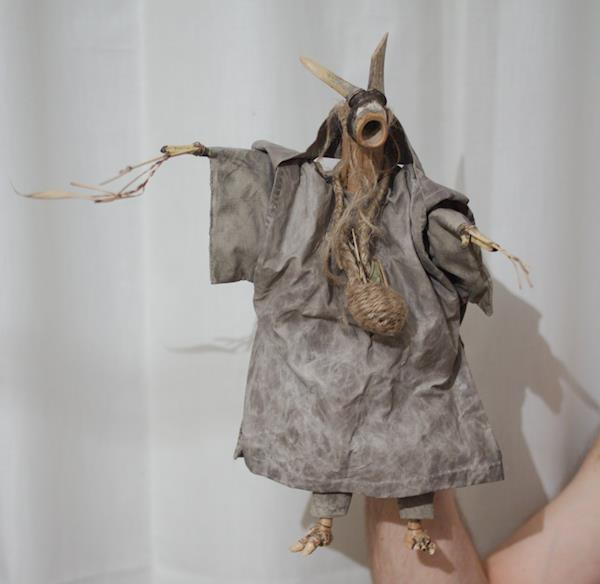 Sorkfjord glove puppet, The old mother